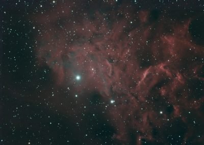astrophotography gallery Flaming Star Nebula